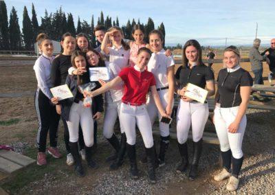 L'équipe concours du Centre équestre Écurie de la Serre à Saint-Thibéry