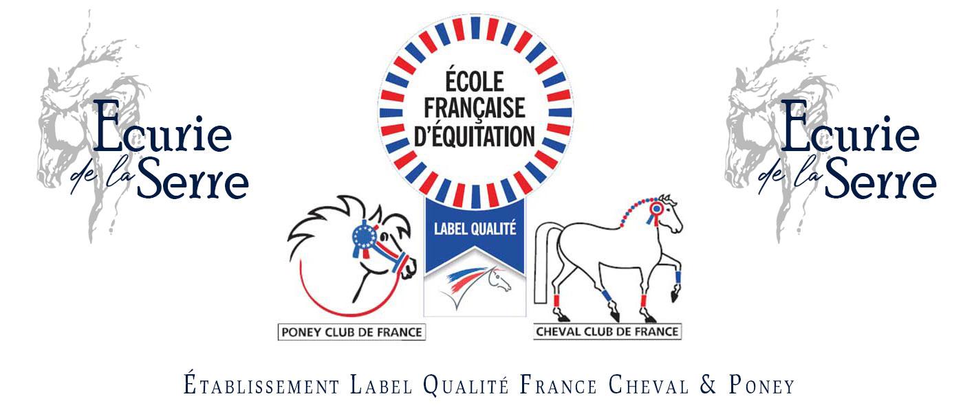 L'image présente le logo de l'écurie et le logo du label Qualité FGrance, Cheval et Poney