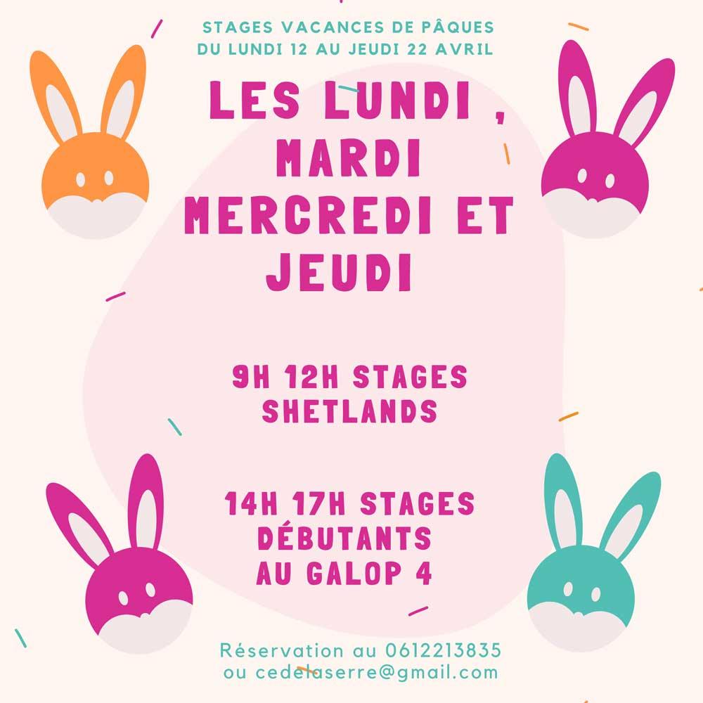 Stages de Pâques 2021