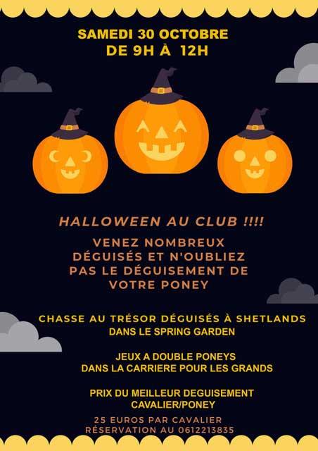 Venez fêter Halloween à l'Écurie de la Serre le 30 octobre 2021 de 9h à 12h